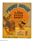 Golden Age (1938-1955):Cartoon Character, Mickey Mouse and the Dude Ranch Bandit Better Little Book #1471 (Whitman, 1943) Condition: NM. Mickey tames the old Wild Wes...