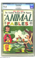 Golden Age (1938-1955):Funny Animal, Animal Fables #1 (EC, 1946) CGC VF/NM 9.0 Off-white to white pages.EC went easy on the modesty when they launched this titl...