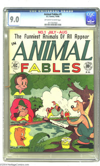 Animal Fables #1 (EC, 1946) CGC VF/NM 9.0 Off-white to white pages. EC went easy on the modesty when they launched this...