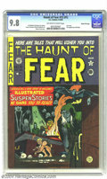 Golden Age (1938-1955):Horror, Haunt of Fear #15 (#1) Gaines File pedigree 2/11 (EC, 1950) CGCNM/MT 9.8 Off-white to white pages. The first issue of one o...