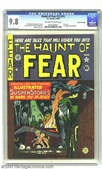 Haunt of Fear #15 (#1) Gaines File pedigree 2/11 (EC, 1950) CGC NM/MT 9.8 Off-white to white pages. The first issue of o...