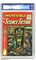 Golden Age (1938-1955):Science Fiction, Incredible Science Fiction #32 Gaines File pedigree 3/12 (EC, 1955)CGC NM 9.4 Off-white pages. Jack Davis created one of hi...