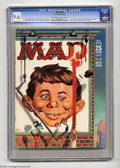 Silver Age (1956-1969):Humor, Mad #50 (EC, 1959) CGC NM+ 9.6 Off-white to white pages. Kelly Freas, painter of many science fiction covers, shows us the p...