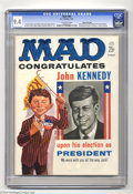 Magazines:Mad, Mad #60 Gaines File pedigree (EC, 1961) CGC NM 9.4 Off-white pages.Another truly mind-blowing Mad cover. This issue fea...