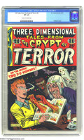 Golden Age (1938-1955):Horror, Three Dimensional Tales from the Crypt of Terror #2 (EC, 1954) CGCVF 8.0 Cream to off-white pages. This comic has stories f...