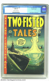 Two-Fisted Tales #32 Gaines File pedigree 3/9 (EC, 1953) CGC NM 9.4 Off-white to white pages. Wally Wood takes aim and d...