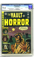 Golden Age (1938-1955):Horror, Vault of Horror #17 Gaines File pedigree 4/11 (EC, 1951) CGC NM+9.6 Off-white to white pages. There's much to like on this ...