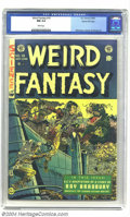 Golden Age (1938-1955):Science Fiction, Weird Fantasy #19 Gaines File pedigree 9/12 (EC, 1953) CGC NM 9.4White pages. Joe Orlando makes the most of a rare cover as...