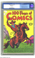 Golden Age (1938-1955):Miscellaneous, 100 Pages of Comics #1 (Dell, 1937) CGC NM- 9.2 Off-white pages. The square binding and stiff covers would normally preclude...