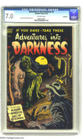 Golden Age (1938-1955):Horror, Adventures Into Darkness #5 Bethlehem pedigree (Standard, 1952) CGCFN/VF 7.0 Off-white pages. Alex Toth and Ruben Moreira a...
