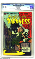 Golden Age (1938-1955):Horror, Adventures Into Darkness #10 Bethlehem pedigree (Standard, 1953)CGC VF 8.0 Off-white pages. Jack Katz and Mike Sekowsky art...