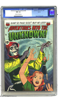 Adventures Into the Unknown #26 Spokane pedigree (ACG, 1951) CGC NM+ 9.6 Off-white to white pages. If the fact that this...