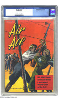 Golden Age (1938-1955):War, Air Ace V2#1 Mile High pedigree (Street & Smith, 1944) CGC VF/NM 9.0 Off-white to white pages. The riveting Nazi concentrati...