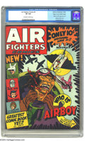 Golden Age (1938-1955):Adventure, Air Fighters Comics #2 Mile High pedigree (Hillman Fall, 1942) CGC VF 8.0 Off-white to white pages. Who could resist this co...