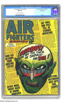 Golden Age (1938-1955):Adventure, Air Fighters Comics V2#8 Crowley pedigree (Hillman Fall, 1944) CGC NM 9.4 Cream to off-white pages. Many of this title's cov...