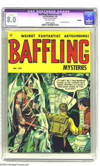 Baffling Mysteries #24 Bethlehem pedigree (Ace, 1955) CGC Apparent VF 8.0 Off-white pages. Last pre-Code issue. A certif...