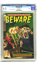 Golden Age (1938-1955):Horror, Beware #15 (#3) (Trojan/Prime, 1953) CGC FN+ 6.5 Off-white pages.A. C. Hollingsworth art. A certificate of authenticity fro...