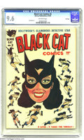 Golden Age (1938-1955):Crime, Black Cat #2 File Copy (Harvey, 1946) CGC NM+ 9.6 Off-white pages. Joe Simon has been credited with this eye-catching cover,...