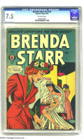 Golden Age (1938-1955):Romance, Brenda Starr V2#10 (Four Star, 1949) CGC VF- 7.5 Off-white pages. Atrue comic strip icon, Brenda Starr became one of the ha...