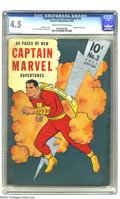 Golden Age (1938-1955):Superhero, Captain Marvel Adventures #3 (Fawcett, 1941) CGC VG+ 4.5 Cream to off-white pages. Fawcett used metallic silver ink to give ...