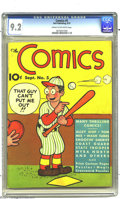 Golden Age (1938-1955):Adventure, The Comics #5 (Dell, 1937) CGC NM- 9.2 Cream to off-white pages. Dating from 1937, this book is from what many call the Plat...