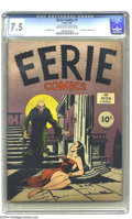 Golden Age (1938-1955):Horror, Eerie #1 (Avon, 1947) CGC VF- 7.5 Cream to off-white pages. This isthe first-ever horror comic book according to CGC, while...