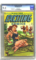 Golden Age (1938-1955):Adventure, Exciting Comics #62 (Nedor Publications, 1948) CGC NM- 9.2 Off-white pages. Alex Schomburg was no one-trick pony. While we l...