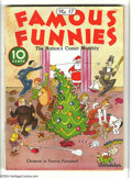 Platinum Age (1897-1937):Miscellaneous, Famous Funnies #17 (Eastern Color, 1935) Condition: VG/FN. Santa Claus collectors, pay heed -- Overstreet remarks that this ...