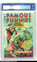 Golden Age (1938-1955):Science Fiction, Famous Funnies #210 (Eastern Color, 1954) CGC NM 9.4 White pages. Frank Frazetta's Golden Age artwork has been some of the m...