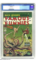 """Golden Age (1938-1955):Science Fiction, Famous Funnies #215 (Eastern Color, 1955) CGC VF 8.0 Off-white towhite pages. We would say, """"Take a look at this Buck Roger..."""