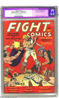 Golden Age (1938-1955):Miscellaneous, Fight Comics #1 Mile High pedigree (Fiction House, 1940) CGC Apparent NM+ 9.6 Slight (P) Off-white to white pages. The cover...