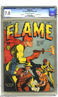 Golden Age (1938-1955):Superhero, The Flame #1 (Fox, 1940) CGC FN/VF 7.0 Off-white to white pages. The origin of Fox's fiery fighter is revealed in this premi...