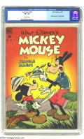 Golden Age (1938-1955):Funny Animal, Four Color #181 Mickey Mouse in Jungle Magic (Dell, 1948) CGC VF-7.5 Off-white pages. Mickey and Goofy cover. Overstreet 20...
