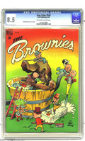 Golden Age (1938-1955):Humor, Four Color #244 The Brownies (Dell, 1949) CGC VF+ 8.5 Off-white to white pages. Walt Kelly story, cover, and art. This is th...