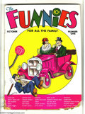 Platinum Age (1897-1937):Miscellaneous, Funnies #1 (Dell, 1936) Condition: FR. Mutt & Jeff, TailspinTommy, Alley Oop, and Capt. Easy (in his first appearance) are ...