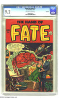 Golden Age (1938-1955):Horror, The Hand of Fate #11 Bethlehem pedigree (Ace, 1952) CGC NM- 9.2Off-white to white pages. We've heard of mandarin oranges, b...