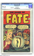 Golden Age (1938-1955):Horror, The Hand of Fate #13 Bethlehem pedigree (Ace, 1952) CGC NM- 9.2Off-white pages. Lou Cameron cover. Mike Sekowsky art. This ...