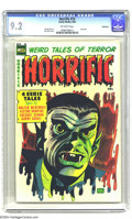 Golden Age (1938-1955):Horror, Horrific #13 Bethlehem pedigree (Harwell, 1954) CGC NM- 9.2Off-white pages. Last issue of the title. Don Heck cover. This i...