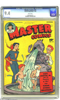 Golden Age (1938-1955):Science Fiction, Master Comics #74 (Fawcett, 1946) CGC NM 9.4 White pages. It's soheartwarming when a son tries to emulate his dad... well, ...