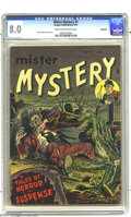 Golden Age (1938-1955):Horror, Mister Mystery #1 Bethlehem pedigree (Aragon Magazines, Inc., 1951)CGC VF 8.0 Cream to off-white pages. This title was one ...