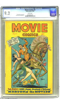 Golden Age (1938-1955):Miscellaneous, Movie Comics #4 (Fiction House, 1947) CGC NM- 9.2 White pages. Gorgeous Yvonne DeCarlo graces this issue's cover. Drawn by B...