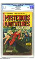 Golden Age (1938-1955):Horror, Mysterious Adventures #4 Bethlehem pedigree (Story Comics, 1951)CGC VF 8.0 Off-white to white pages. A. C. Hollingsworth ar...