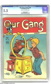 Our Gang Comics #10 (Dell, 1944) CGC FN- 5.5 Cream to off-white pages. Featuring a Benny Burro story with Carl Barks art...