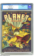 "Golden Age (1938-1955):Science Fiction, Planet Comics #6 Rockford pedigree (Fiction House, 1940) CGC VF-7.5 Cream to off-white pages. Overstreet calls this issue ""..."
