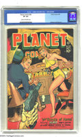 Golden Age (1938-1955):Science Fiction, Planet Comics #50 (Fiction House, 1947) CGC VF 8.0 Cream tooff-white pages. This great issue of Planet starts things off wi...