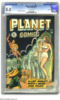 Golden Age (1938-1955):Science Fiction, Planet Comics #56 Rockford pedigree (Fiction House, 1948) CGC VF8.0 Off-white pages. This Fiction House mainstay title adde...