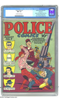 Golden Age (1938-1955):Superhero, Police Comics #1 Windy City pedigree (Quality, 1941) CGC NM- 9.2 Off-white to white pages. One of the more significant issue...