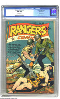 Golden Age (1938-1955):War, Rangers Comics #19 Pennsylvania pedigree (Fiction House, 1944) CGCNM+ 9.6 Off-white pages. This comic's cover tells us much...