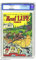 Golden Age (1938-1955):Non-Fiction, Real Life Comics #50 Mile High pedigree (Nedor Publications, 1949)CGC VF+ 8.5 Off-white to white pages. What if we told you...