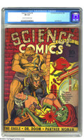 Golden Age (1938-1955):Science Fiction, Science Comics #4 (Fox, 1940) CGC FN 6.0 Cream to off-white pages.Jack Kirby and Joe Simon contribute to this uncommon Fox ...